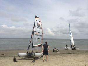 Sailing an Inflatable Catamaran from France to the UK
